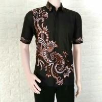 Kemeja Batik pria casual modern baju lengan pendek M-L-XL-XXL