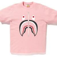 Kaos Wanita / Tumblr Tee Lengan Pendek Bape Shark - Pink