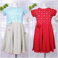 Dress Rossa LENGAN uk 5-6 Tahun - Dres Anak Perempuan Cewek Baju Lucu