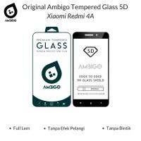 Tempered Glass 5D Xiaomi Redmi 4A Full Cover Ambigo Original