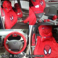 Bantal Mobil 8 in 1 Spiderman Merah
