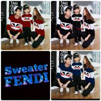 Sweater Couple Family Fendi - Pakaian Fashion Baju Pendi Sekeluarga