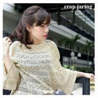 Sweater Crop Baju Crop Sweater Rajut Wanita Rajutan Crop Sweater Laris