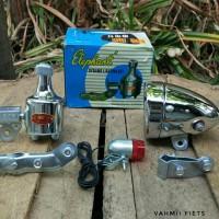 Set lampu dinamo Elephant sepeda onthel
