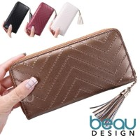 BEAU Dompet Wanita Impor Fur Design Texture Women MURAH-MURAH