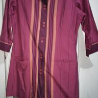 Baju Atasan Wanita Kemeja Kerja Batik Lurik
