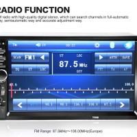 Lumin 7018B Head Unit Double 2 Din 7 Inch Bluetooth Audio Car MP3 MP5