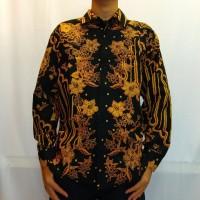 Baju Kemeja Batik Tulis Cabut Parang Kusuma - Kuning