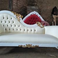 bangku sofa lois ukiran bunga cat duco - mebel jepara