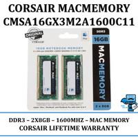 Corsair MAC Apple RAM DDR3L 16GB PC12800 (2X8GB) CMSA16GX3M2A1600C11