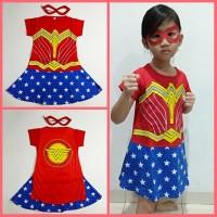 Kostum Anak Karakter Superhero Wonder Woman 2 Dress Baju