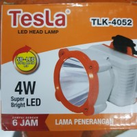 SENTER KEPALA TESLA 53 LED HEAD LAMP NYALA HINGGA 8 JAM CHARGE LED PTH
