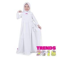 Baju Muslim Anak Perempuan Gamis Jersey Putih