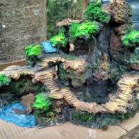 Waterfall / air terjun aquascape