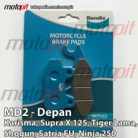 Kampas Rem SupraX 125, Satria FU, Ninja R, Ninja 250 BENDIX MD2