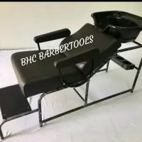 Kursi Washbak bak keramas salon cuci rambut besi pangkas barber shop