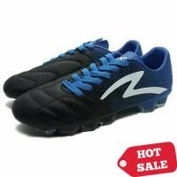 Sepatu Bola Specs Equinox FG (Black/Tulip Blue/White)