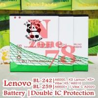 Baterai Lenovo Vibe K5 BL259 BL242 K5 Plus A6000 Lemon K3 Double Power