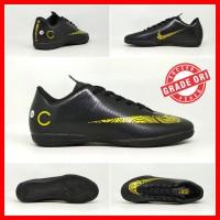 Sepatu Futsal Dewasa Nike Mercurial CR7 Hitam List Emas GO