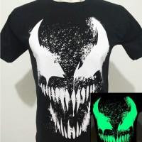Kaos tshirt baju Marvel VENOM Glow in the dark