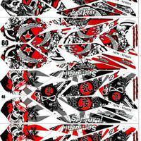 Sticker Striping Variasi Vixion New 2013-2016 NVL/NVA SKULL/TENGKORAK