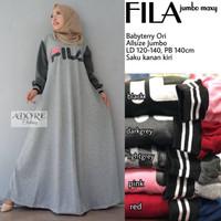 Baju wanita blouse tunik fila muslim lucu modern keren