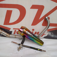 Knalpot Racing Yamaha Scorpio Z M4 Rainbow Fullsystem High Peforma