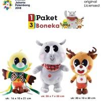 Boneka Maskot Asian Games 2018 1set 3pcs KAWAI BESAR
