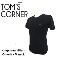 Kaos Oblong Pria Merk Kingsman Hitam   Pakaian dalam pria   kaos dalam