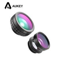Original AUKEY Fisheye Macro Wide Lensa Clip Smartphone Jepit - PL-A1