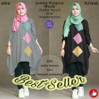 53361 jumbo pinguin wajik/baju tunik jumbo/atasan muslim wanita jumbo