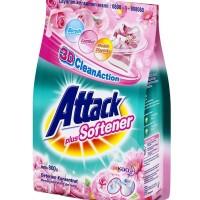 Attack Powder Detergent Plus Softener / Sabun Cuci Bubuk Pelembut 800g