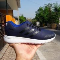 Sepatu Sport Adidas Men Cloudfoam Navy Black / Olahraga / Lari
