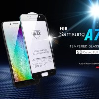 Tempered Glass Full 5D For Samsung A8+ Plus 2018 Anti Gores Kaca Warna