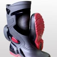 Sepatu Bot Karet PVC Anti Tembus Air Banjir Hujan AP BOOTS MOTO 3