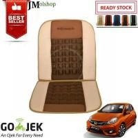 Sandaran Pijat Jok Mobil Honda New Brio RS Universal Cream Kombinasi