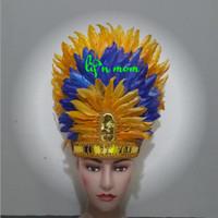 aksesoris kepala bulu dewasa baju adat anak karnaval
