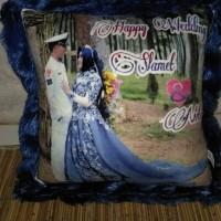 Bantal foto / kado pernikahan / kado ulang tahun / wisuda