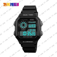 Jam Tangan Pria Digital SKMEI 1299 Black Water Resistant 50M