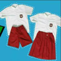 Setelan Baju Seragam Sekolah SD Anak Laki-laki dan Perempuan