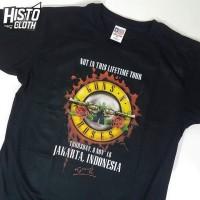 Kaos Baju Band Rock Legend GNR Guns N Roses Live Jakarta - GNR52