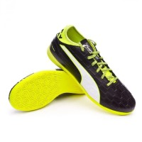 Puma Evotouch 3 IT - Black Yellow. Sepatu Futsal Puma Original Murah.