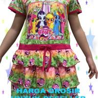 Baju Dress Anak Perempuan Susun 3 My Little Pony |2 DTB-088