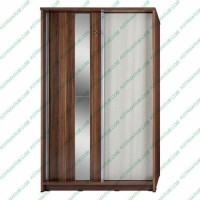 lemari baju pakaian cermin kaca 2 pintu activ slide 120 sliding geser