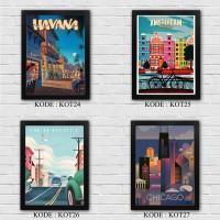 Poster dinding Wallpaper dekorasi rumah Gambar KOTA 2 pajangan A4