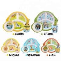 Bamboo Fiber Feeding kids Set(Bulat)/ Peralatan makan bayi/Piring anak