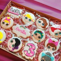Butter cookies dengan icing | kukis hias LOL / L.O.L / lol surprise