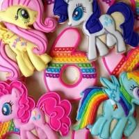 Butter cookies dengan icing | kukis hias my little pony