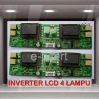 LCD INVERTER UNIVERSAL BOARD CCFL 4 LAMPU / BALAST LCD NEON 4 LAMPU