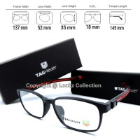 Kacamata Tagheuer magnetic klip paket frame free lensa Anti radiasi
